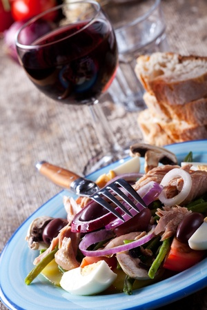 french salad nicoise on a plate Stock Photo - 10474669