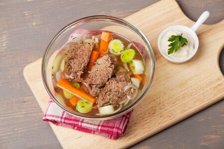 prime boiled beef and soup photo