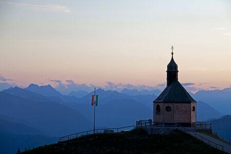 mountain chapel on wallberg at sunset Stock Photo - 10669153