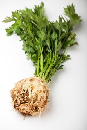 fresh celery on a white Stock Photo