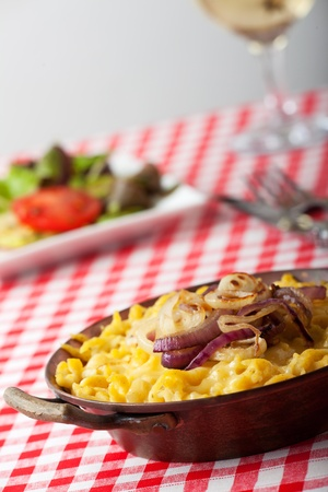 bavarian spaetzle noodles with cheese photo