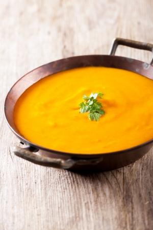 pumpkin soup in a bowl Standard-Bild