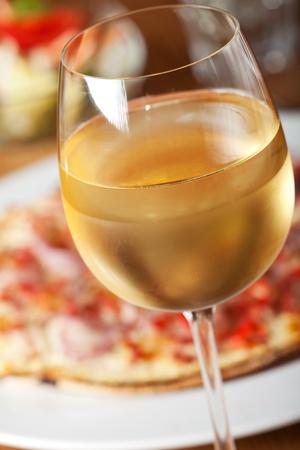 onion tart with ham and fresh white wine Stock Photo - 11075792