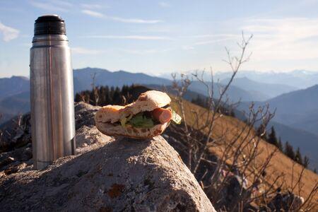 picnic on a mountain summit