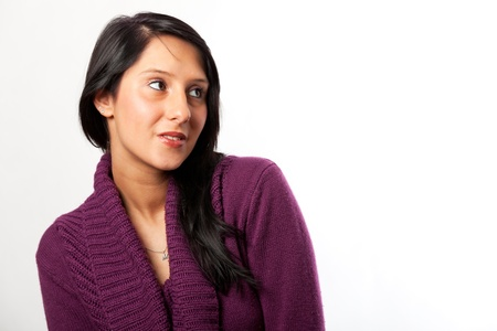 smiling in a pink sweater Stock Photo - 16335357
