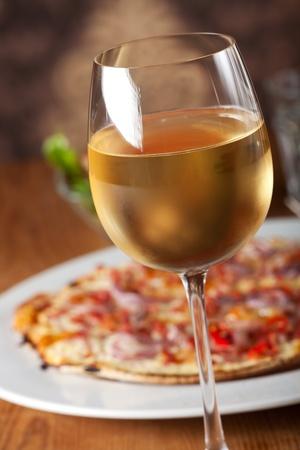 onion tart with ham and fresh white wine