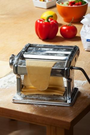 making fresh pasta with a machine Stock Photo - 11762555