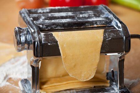 making fresh pasta with a machine Stock Photo - 11762554