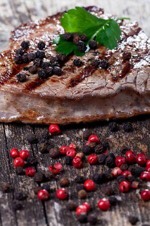 steak on a wooden plank Stock Photo - 11762575