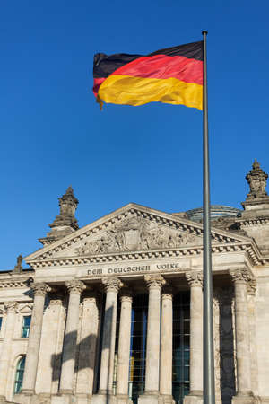 german reichstag on a sunny day  photo