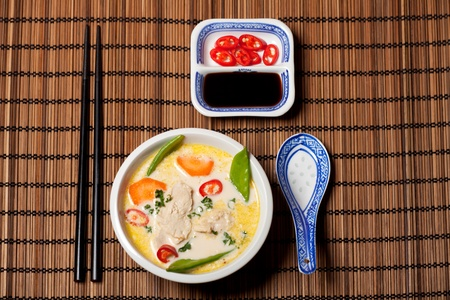 thai tom kha gai soup Stock Photo - 12075889