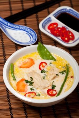 thai tom kha gai soup photo