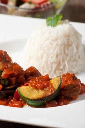 indian zucchini curry dish with rice  Stock Photo - 12210061