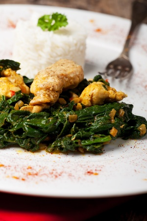 indian murgh palak spinach chicken dish Stock Photo - 12210210