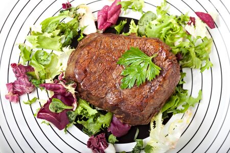 grilled steak on a plate  Stock Photo - 13814114