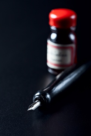 closeup of a fountain pen  photo