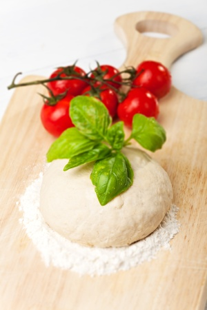 raw yeast dough on a chopping board  Stock Photo - 13890800