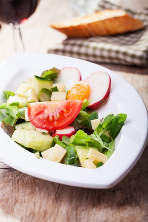 salad with cheese and wine Stock Photo - 14258534