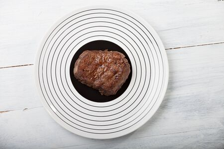 grilled steak on a plate  Stock Photo - 14478212