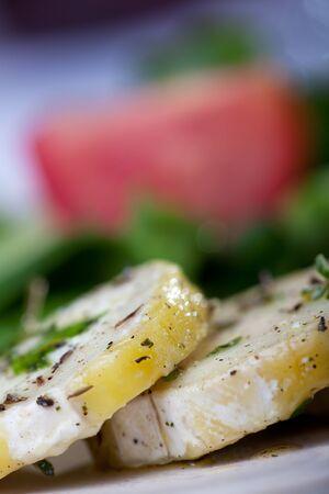 closeup of marinated goat cheese Stock Photo - 14546332