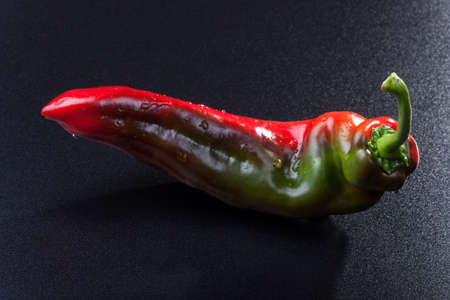 closeup of a red green pepper Stock Photo - 14626260