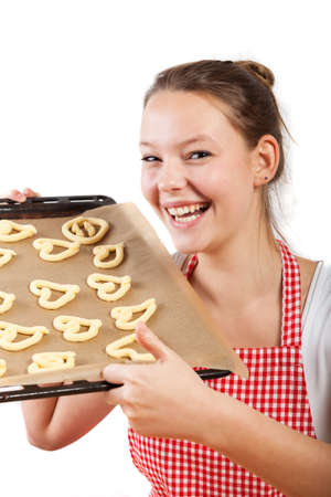 woman baking christmas cookies  Stock Photo - 16335409