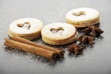 christmas cookies and sugar powder  Stock Photo - 16259579