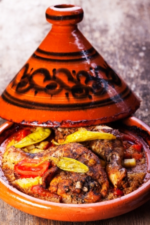 chicken legs in a tajine Stock Photo - 16259587