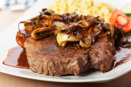 onion roast beef with spaetzle Stock Photo - 16434893