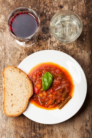goulash in a white bowl  Stock Photo - 16434897