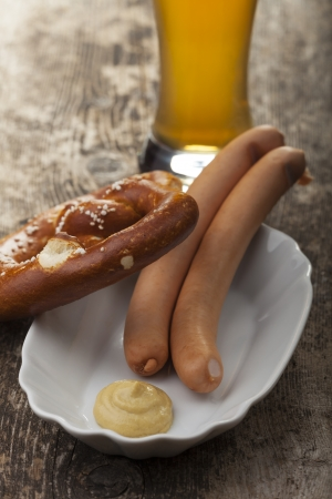 pair of wiener sausages  photo