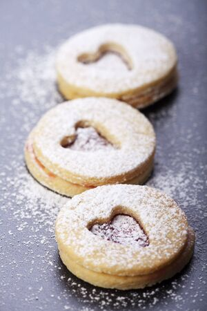 christmas cookies and sugar powder  photo