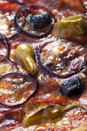 pizza with ham and olives  Stock Photo - 17019093