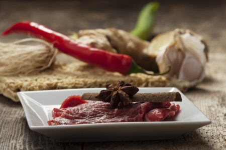 closeup of ingredients of a vietnam pho soup Stock Photo - 17018528