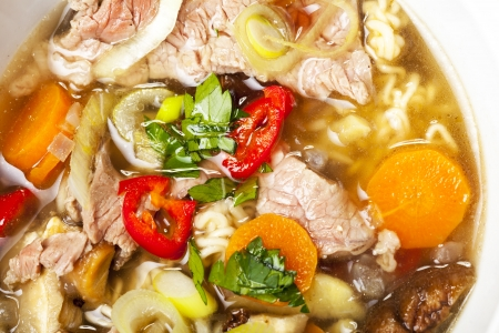 closeup of a vietnam pho soup  Stock Photo - 17019101