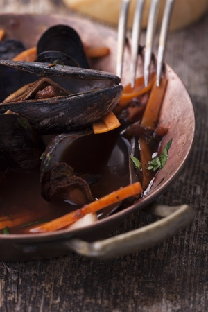 closeup of blue mussels Stock Photo - 17018526
