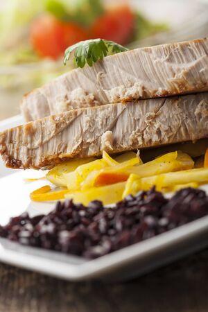 closeup of grilled tuna steaks Stock Photo - 17018530