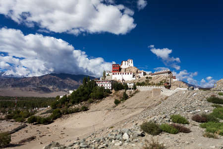 monastery in leh, india  photo