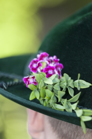 closeup of a traditional bavarian hat Stock Photo - 17086815