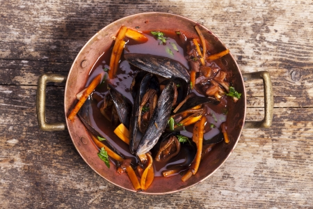 closeup of blue mussels  Stock Photo - 17086821