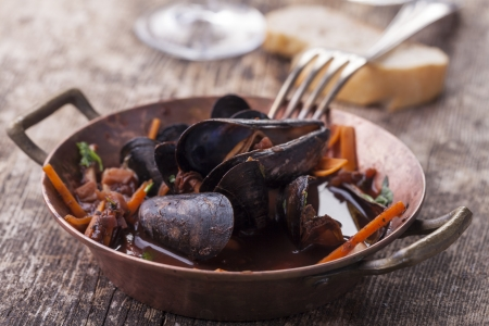 closeup of blue mussels  Stock Photo - 17086810