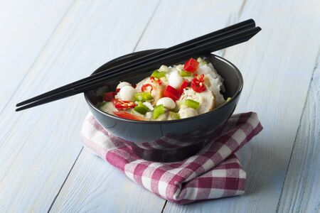 green thai curry with chicken in a bowl Stock Photo - 17086809