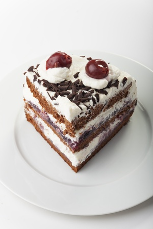 piece of a black forest cake  Stock Photo - 17086801