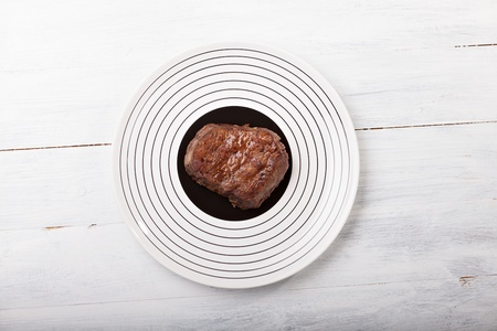 grilled steak on a plate Stock Photo - 17167642
