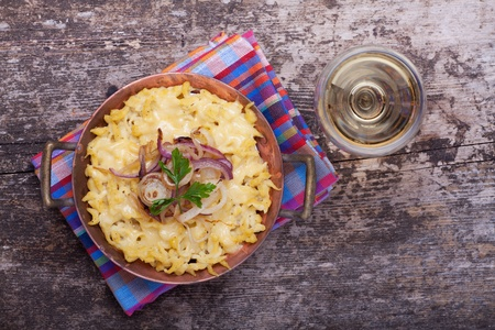 bavarian spaetzle noodles with cheese  Stock Photo - 17167647