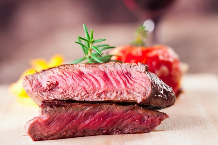 grilled steak with fries and tomato Stock Photo - 17167641