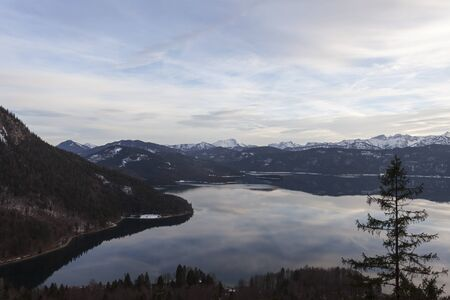 walchensee lake in bavaria on a winter day Stock Photo - 17318206