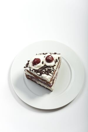 piece of a black forest cake  Stock Photo - 17498774