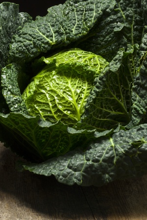 fresh raw savoy cabbage  Stock Photo - 17498790