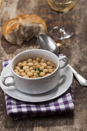 fresh broth with soup pearls  Stock Photo - 17498788